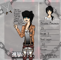 .:AoT:. Brooke's Character Sheet -Desc. update!- by GH0STBUNNY