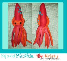 Squid Plushie by Wolfriderxangel