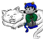 Nepeta and Pounce by ElectraGrimm