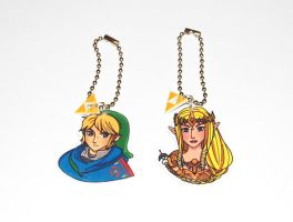Zelda Hyrule Warriors keychains by knil-maloon