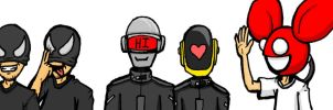 Bloody-Daft-Mau5 in Color by Rinzler-chan
