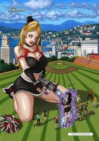 Goth Giantess Cheerleaders by giantess-fan-comics