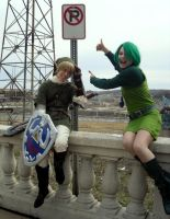 Link and Saria by thatbloodypirate