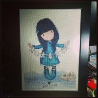 Gorjuss Cross Stitch - I Found My Family in a Book by passionfyre