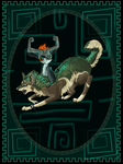Wolf Link Journal Cover by AprilSilverWolf