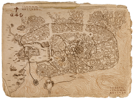 Map of the City of Umbar, Harad, LOTR by DireImpulse