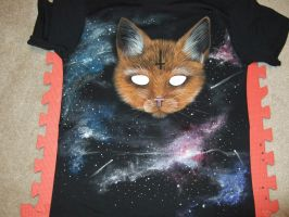 Galaxy Demon Cat by NamelessCreativity