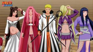 Naruto and Girls by AlexPetrow