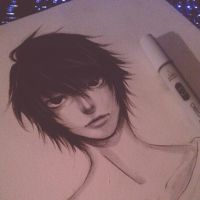 L/Lawliet by thumbelin0811