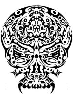 trible skull by giyvin