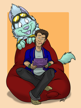 Peter's new gaming pal by TDotBabs