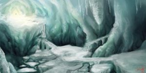 Assignment 47: Ice Cave by CherryRiceSammich