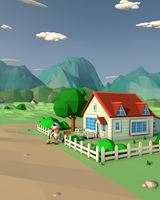 Pallet Town Blues - Low Poly