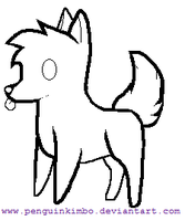 Free fox-canine lineart by SpunkyAdopts