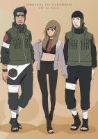 Asuma, Hiyori and Genma by Ruu-k