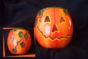 punkin candle holder by ryliecat