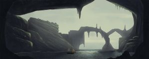 Caves - speed painting by KapiasW