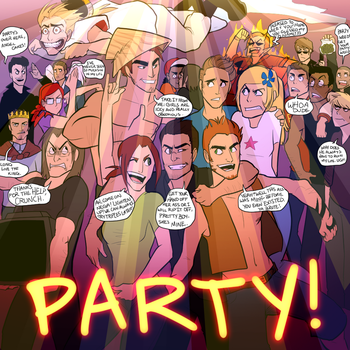 Party v2 (colored) by KD-LoseAider