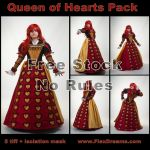 Queen of Hearts Free Stock Pack by FlexDreams