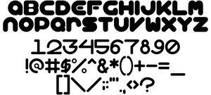 BubbleBalloon (font concept) by LDEJRuff