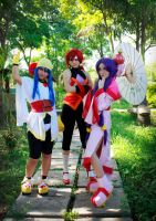 Saber Marionette J to X Cosplay - Doll Trio by SailorMappy