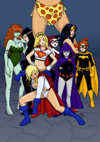 DC Comics Women Final by sykoeent