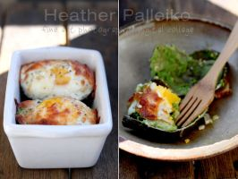 Roasted Avocado with Egg by hpdphotos