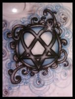 Heartagram Airbrush Shirt by vampireheartagram27
