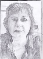 Portrait of my Mum by QuizzicalHarpy