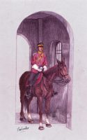 The Palace Guard and His Horse by DarthFar