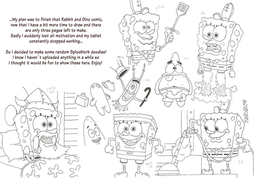 Spongebloop Squareploop - doodles! by MarkProductions