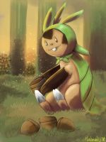 Chespin by Phatmon