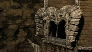 Balrog Head Balcony of the Tower by raoulmike