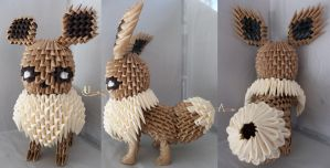 3D Origami - Eevee by Jobe3DO