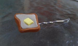 Buttery Toast Bobby Pin by Gynecology