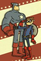 The Captain and Bucky by tyrannus