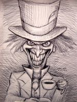 The Mad Hatter (pen sketch) by myconius