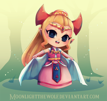 Chibi 4Swords Zelda by MoonlightTheWolf