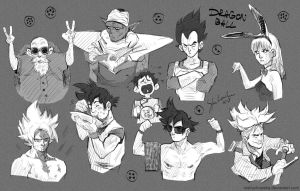 Dragon Ball sketchdump by mstrychowska