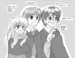 Harry Potter and Doujinshi by Tigerfog