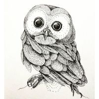 InkTober Day 1: Baby Owl by artifexToils