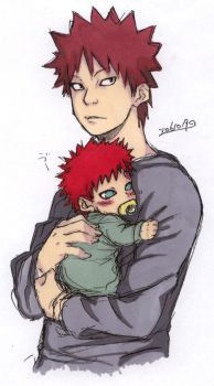Kankuro and Gaara 2 by funeralgirl