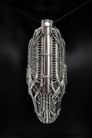 Spaceship monster pendant by IMNIUM