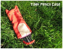 Tiger Pencil Case by FrostedMayhem