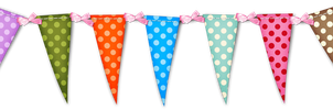 Polka Dot Pennant Flag by HGGraphicDesigns