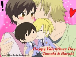 Happy Valentines Day: Haruhi and Tamaki by Kuro2Kira
