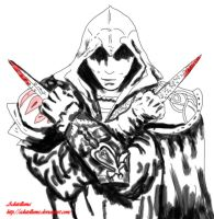 Ezio Assassin's creed by Adutelluma