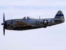 Republic P-47D Thunderbolt Flyby by shelbs2