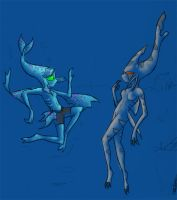 Anemos and Sharky encounter by Almiux19