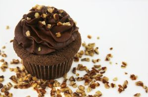 Bittersweet Callebaut Cupcake by FightTheAssimilation